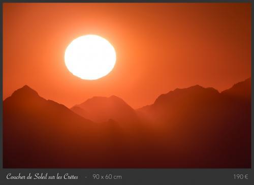 Coucher de soleil sur les crêtes