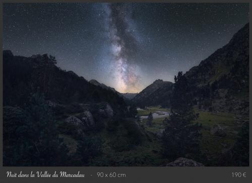 Nuit dans la vallée du Marcadau