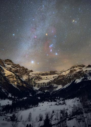 Ciel d'hiver à Gavarnie